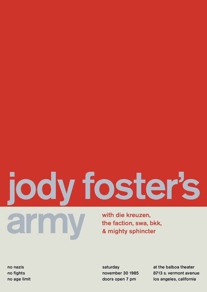 Jody Foster's Army at The Balboa Theater, 1985