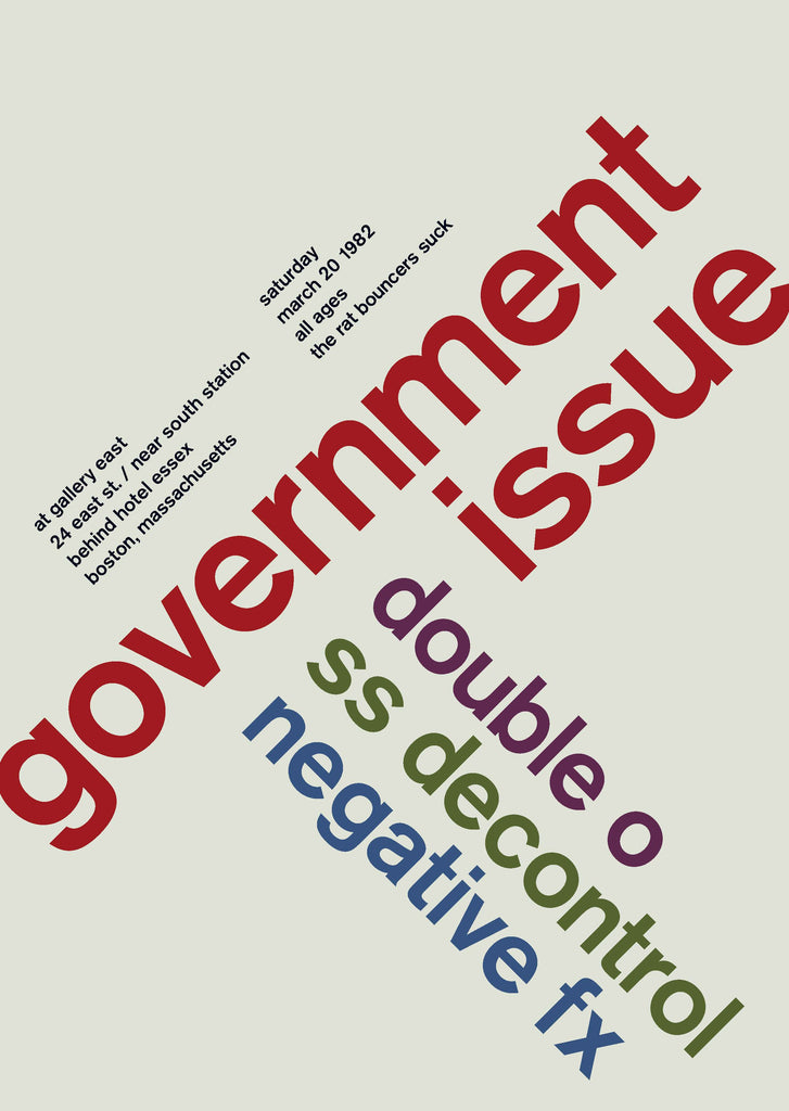 Government Issue at Gallery East, 1982