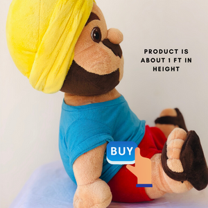 Fluffy Singh Plush Punjabi Teddy - Quirky Masala