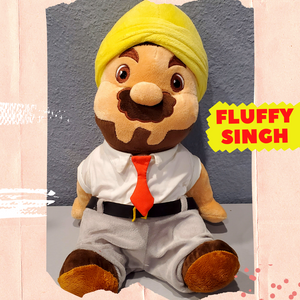 "Limited Edition ""FLUFFY SINGH"" Punjabi Teddy 