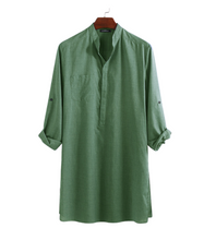 Load image into Gallery viewer, Indian Kurta with Chinese Collar - Quirky Masala