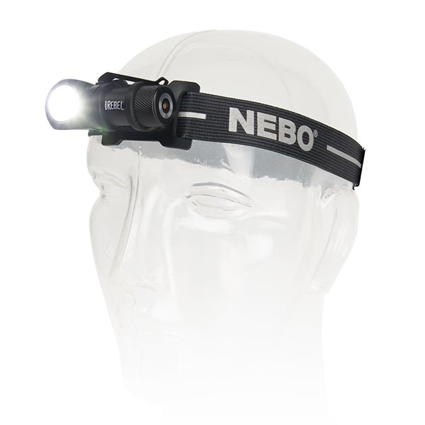 NEBO REBEL Rechargeable LED Headlamp and Task Light 600 x 240 Lumens
