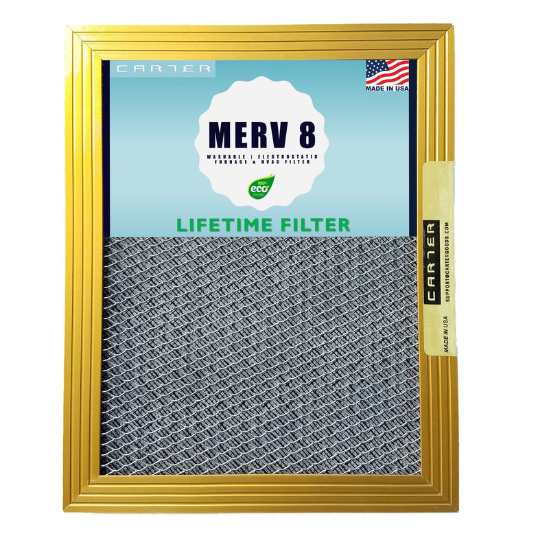 Carter Goods aluminum frame lifetime electrostatic air filter Merv 8