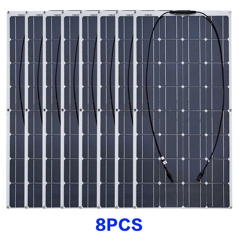 Solar panel Monocrystalline Solar Cell Flexible 12V - 24V Volt 100-1000 Watt Solar Kit