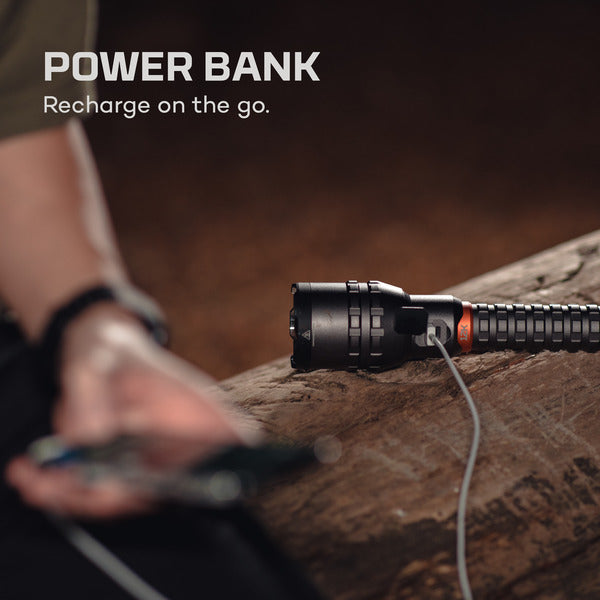 $15 off NEBO 12,000 Lumen Turbo 30s | 7000 Lumen Constant Rechargeable Flashlight w/ Power Bank waterproof (IP67)