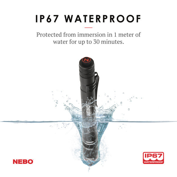 NEBO Inspector RC | IP67 Waterproof | Rechargeable | Flex Power | Pocket Size | 4X Zoom
