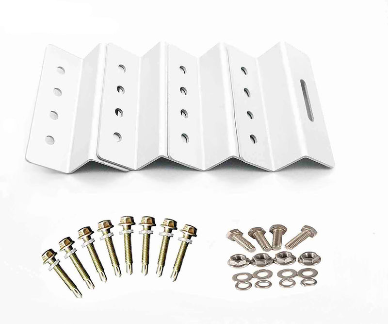 PV Solar Panel Mounting kits 4 aluminum Brackets stainless hardware