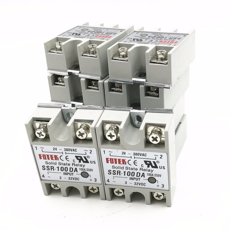 10 Pack 100A SSR Single phase solid state relay,input 3-32 VDC output 24-380V