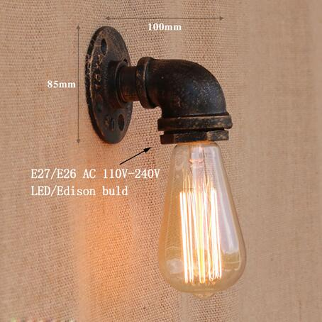 Retro Iron Pipe Wall Sconce