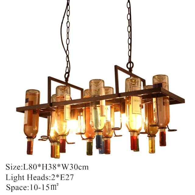 Retro Wine Bottle Chandelier (bottles not included)