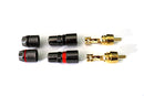 CARTER RCA Connector Plugs 24K Gold Speaker Plugs | Car | Home | Audio