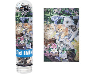 Small Jigsaw Puzzles for Adults and Kids, Cute Cat 150 Pieces Mini Jigsaw Puzzles 6 x 4 Inches