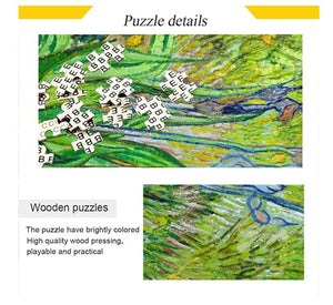 1000 Piece Puzzle for Adults Intellectual Fun Family Game Jigsaw Puzzles - Van Gogh-The Iris