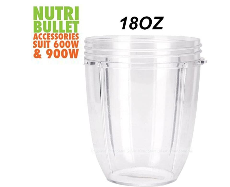 Replacement 18 Oz Cup Set with Flip Top To Go Lid - For Nutri Bullet 600W 900W 2-Pack