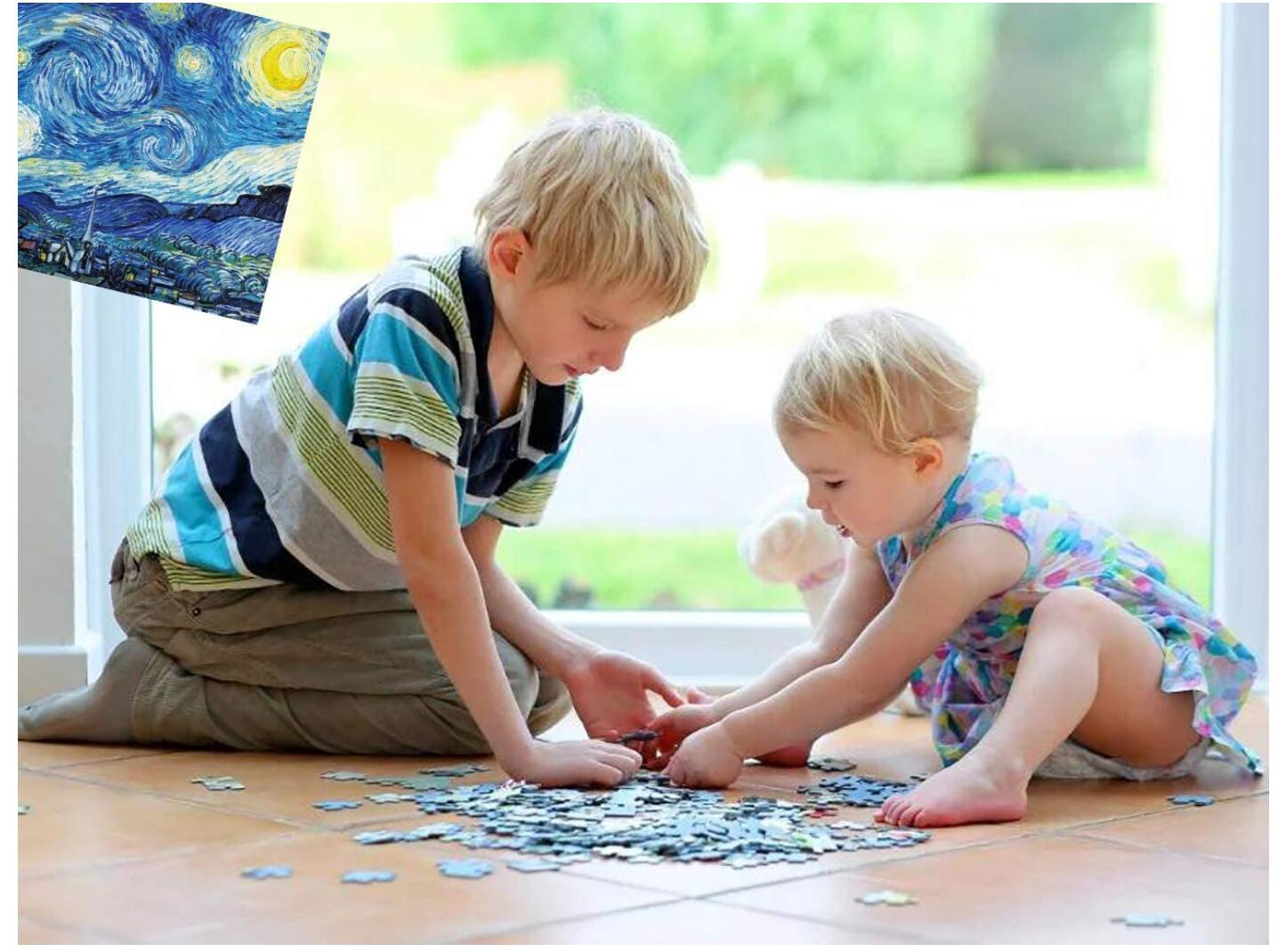 1000PCS Jigsaw Puzzle Kids Adults, Large Intellectual Educational Game, Starry Sky Art Project for Home Wall Decor