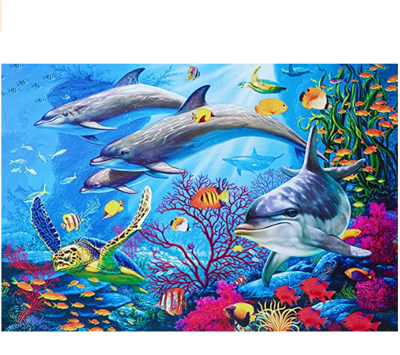 500 PCS Jigsaw Puzzles - Ocean World, Educational Intellectual Decompressing Fun Game for Kids Adults