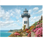 Load image into Gallery viewer, 1000 Pieces Jigsaw Puzzles for Adults, Landscape Lighthouse Bay Jigsaw Large Puzzle Game Toys Gift DIY Collectibles Modern Room Decoration