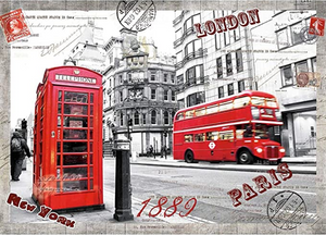 Mini 1000 Pieces Jigsaw Puzzles for Adults - London Impress Jigsaw Puzzles 16.54 x 11.69 inches