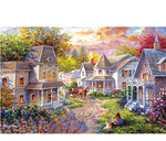 Load image into Gallery viewer, Jigsaw Puzzles 1000 Pieces for Adults Kids Floor Puzzle Intellectual Game Learning Decompression Toys House in The Forest Paper Jigsaw Puzzles