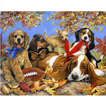 Load image into Gallery viewer, Jigsaw Puzzles 1000 Pieces for Adults Kids Families, Stress Reliever Cute Pet Dogs Doggy Puzzle DIY Colorful Toys Preschool Educational Games Difficult Puzzle Art for Men and Women