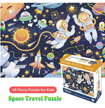 Load image into Gallery viewer, Puzzles for Kids Ages 3-5, Space Jigsaw Puzzles 48 Pieces Preschool Educational Learning Toys Puzzles for Toddlers Boys and Girls - Best for 2, 3, 4, 5, and 6 Year Olds