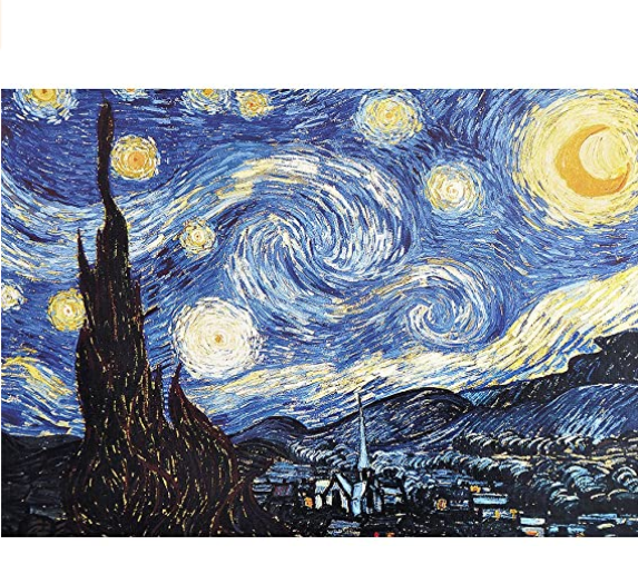 Jigsaw Puzzles for Adults 2000 Piece Jigsaw Puzzle Starry Night by Vincent Van Gogh 27.56 x 39.37 Inches