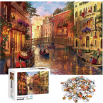 Load image into Gallery viewer, Jigsaw Puzzles 1000 Pieces for Adults Venice Water City Educational Fun Game Intellectual Decompressing Interesting Puzzle