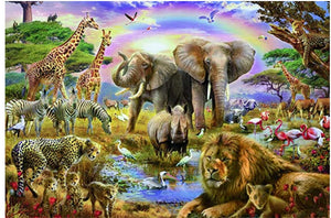 Jigsaw Puzzles 1000 Pieces for Adults Wooden Jigsaw Jungle Animal Pattern Puzzle Kids Game Education Toys Gift Home Decor 75x50cm