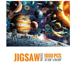 "Load image into Gallery viewer, Space Puzzles 1000 Pieces Jigsaw Puzzles for Adults, Planets in Space Jigsaw Puzzle for Kids, Family Puzzle-Finished Size 70cm x 50cm (27.56"" x 19.69"")"