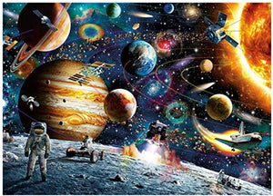 1000 Piece Large Jigsaw Puzzle for Adults - Planets in Space - 1000 pc Jigsaw Puzzle Game Interesting Toys - Hand Made Puzzles Personalized Gift
