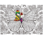 Load image into Gallery viewer, Puzzle Butterfly Swarm DIY Jigsaw with Color Pencile 500 Pieces Adult Wooden DIY Jigsaw Puzzle Modern Art Home Decor - Great for Family Time - Promotes Problem-Solving (70 x 50 cm)
