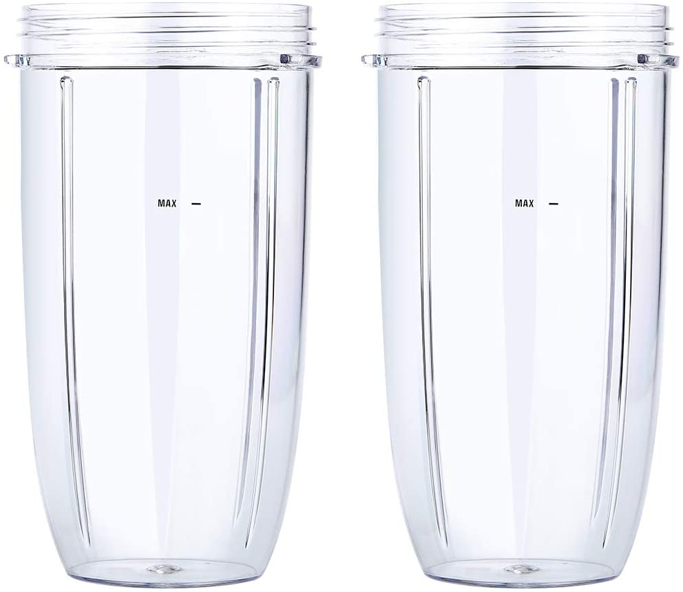 Replacement for Nutribullet 32oz Cups Fits for Nutribullet Blenders 600W and 900W - Pack of 2