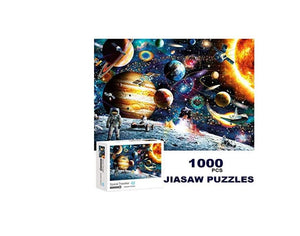 1000 Piece Jigsaw Puzzle for Adults Space Puzzle 1000 Piece Jigsaw Puzzle Fun Indoor Activity Educational Intellectual Fun Family Game Puzzle for Adults Kids Puzzle (Blue Planet)