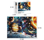 Load image into Gallery viewer, Space Puzzles Jigsaw Puzzles 1000 Pieces for Adults Kids – Jigsaw Puzzle Planets in Space Educational Intellectual Decompressing Fun Family Games DIY Toys for Gift