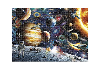 Space Puzzle 1000 Piece Jigsaw Puzzle Kids Adult – Planets in Space Jigsaw Puzzle