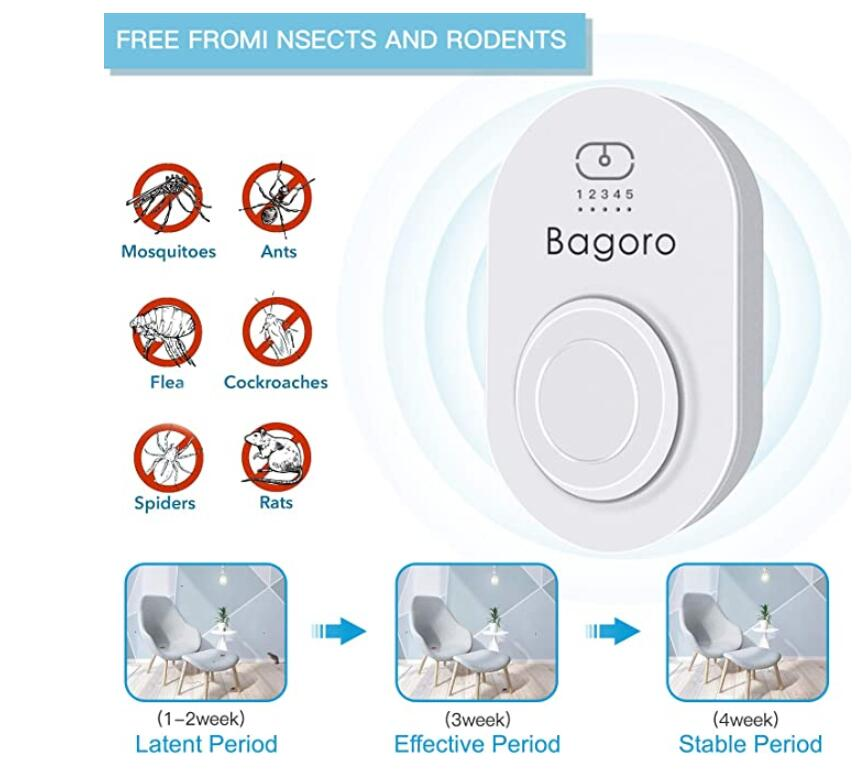 Ultrasonic Pest Repeller, 2020 Upgraded Electronic Pest Repellent Control for Mice, Cockroaches, Spiders, Fleas, Rats, Bugs - Pet People Friendly Safe Mosquito Eradicator(2 Pack)