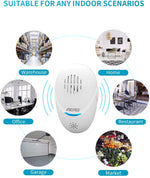 Load image into Gallery viewer, Ultrasonic Pest Repeller (2 Pack), Unique Dual-Sounder Electronic Indoor Plug in for Insects, Mice, Ant, Mosquito, Spider, Rodent, Roach, Mosquito Repellent