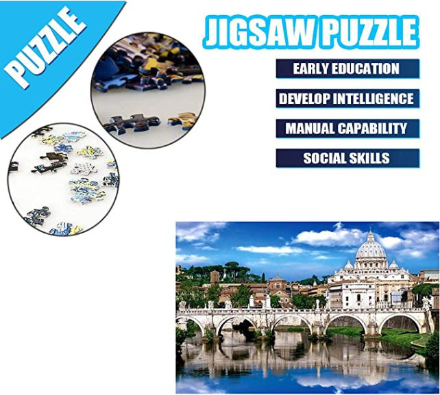 DIY Family Game Adult Children Puzzle Puzzle Toy 1000PC Puzzle Landscape Pattern