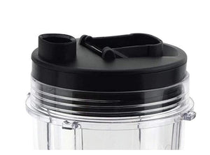 Joyparts Replacement Parts Cup with Lid for Ninja Blender BL450 BL480 BL490 BL2012 NN101 (24oz)