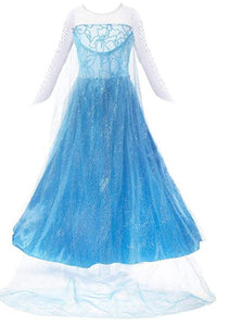 Little Girl Princess Dress Snow Party Queen Halloween Costume