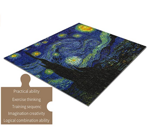 1000 Piece Jigsaw Puzzle, Starry Sky Floor Puzzle for Kids Adult