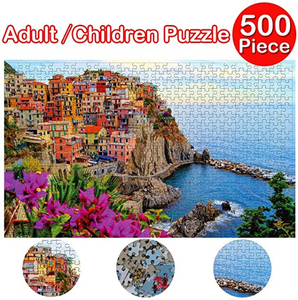 Children's Cards Wooden Jigsaw Puzzles for Kids/Adults,Alonea for Children's Puzzle Educational Gift - Educational Toy, Adult Space Pattern & Fun Fact Poster - Brain Games (B)