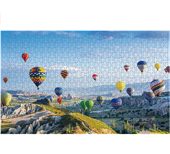 Jigsaw Puzzles 500 Pieces for Adults Great View Puzzles Gift for Family Friends Kids Parents- Cappadocia Ballon Puzzle Game Toy