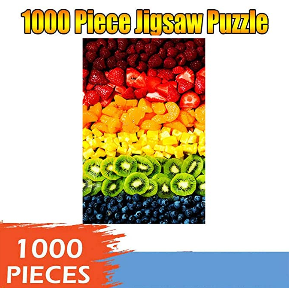 Jigsaw Puzzles 1000 Pieces for Adult - Kids Educational Learning Toy - Nature Landscape Art Flowers Beach Space Dog Painting Decoration - Childrens Intellective Game, Funny Hard Challenge Gift