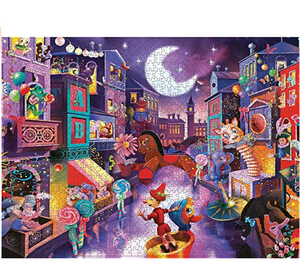 1000 PCS Adult Jigsaw Large Jigsaw Puzzle, Puppet City, Adult Decompression Child Educational Gift.