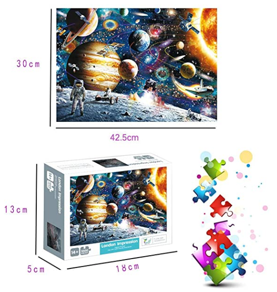 Jigsaw Puzzles for Kids & Adult - 1000 Pieces Cosmic Walk Puzzle - Family Funny Decompression Games