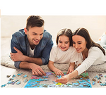 Load image into Gallery viewer, Jigsaw Puzzles 1000 Pieces for Adults Kids Families, Stress Reliever Dog's Card Game Puzzle DIY Colorful Toys Preschool Educational Games Difficult Puzzle Art for Men and Women