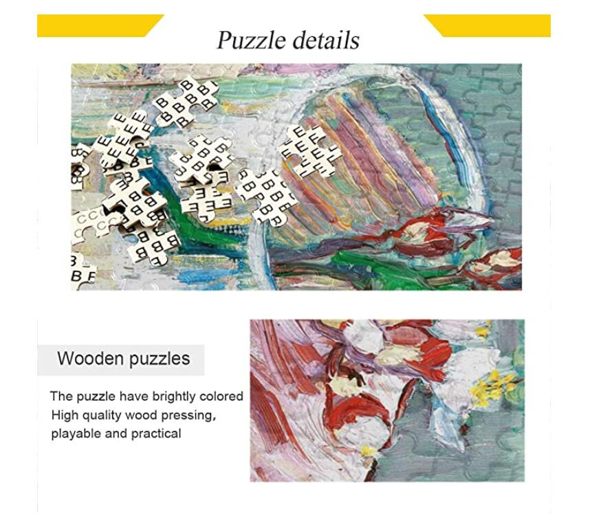 500 Piece Puzzle for Adults Puzzle Toys Wall Decoration Jigsaw Puzzles - Blossoming Almond with Book