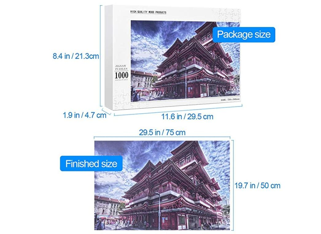 1000 Pieces of Jigsaw Puzzles Jigsaw Toys Educational Games adultChildren's Brain Challenge Puzzles- TS006
