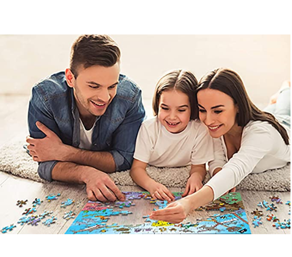 Jigsaw Puzzles 1000 Pieces for Adults Kids Families, Stress Reliever Micro-Sized Flowers Castle Painting Puzzle DIY Colorful Toys Preschool Educational Games Difficult Puzzle Art for Men and Women